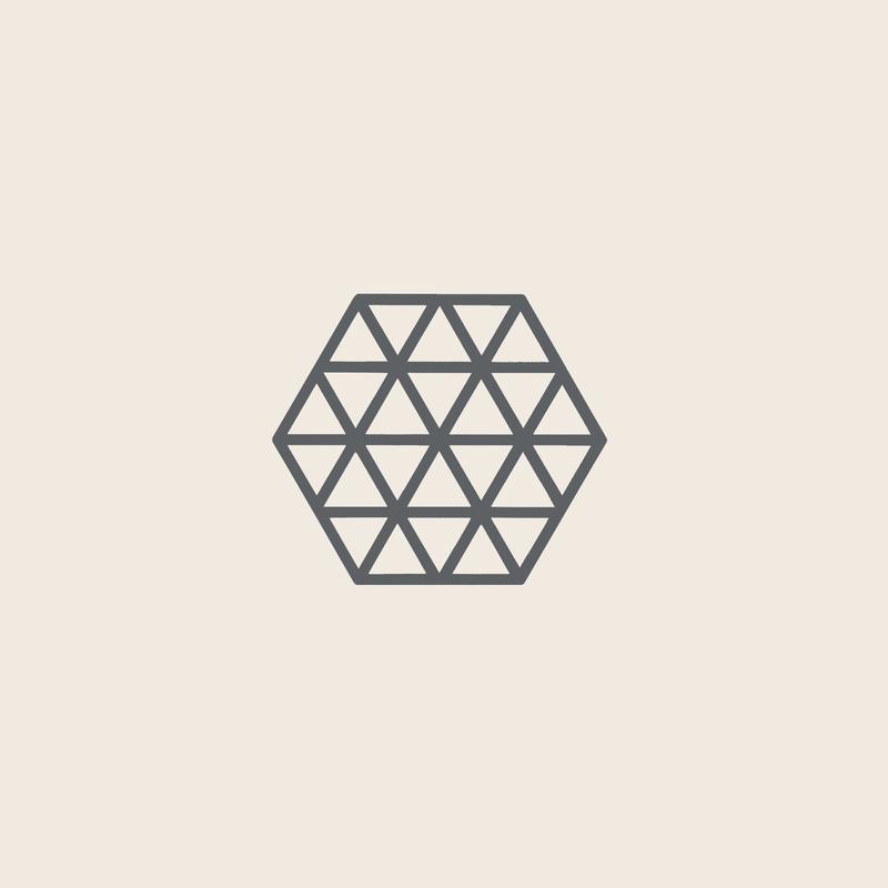 Zone Denmark Coaster Triangles Cool Grey