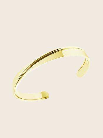 Bandhu Curved Bracelet Gold