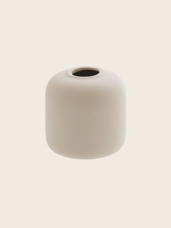Matte Beige Vase Ø10