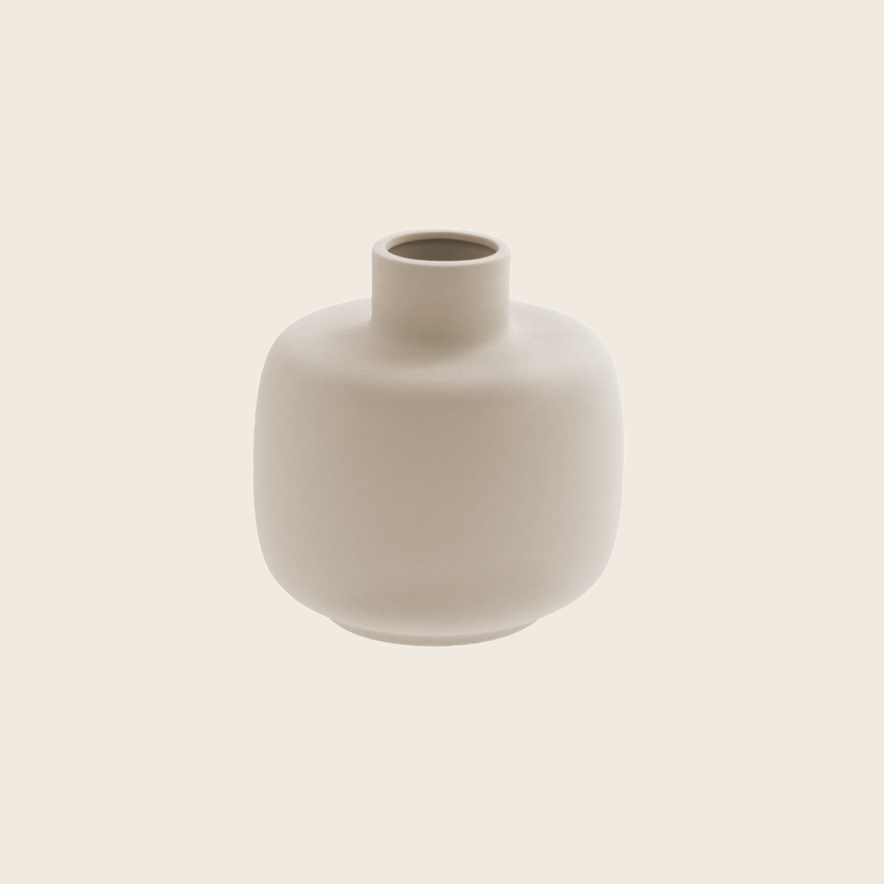 Matte Beige Vase Ø12