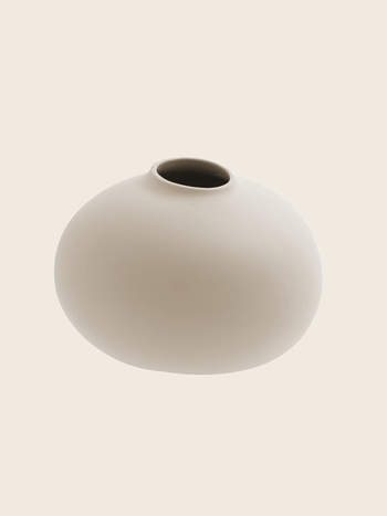 Matte Beige Vase Ø17