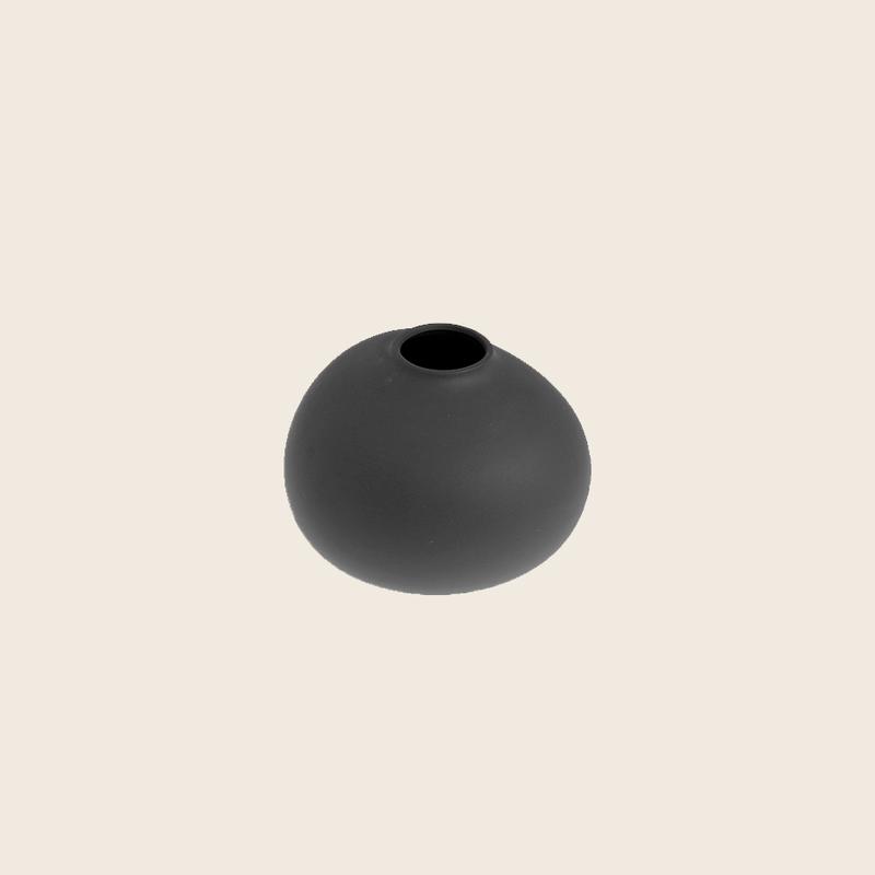 Matte Dark Grey Vase Ø9