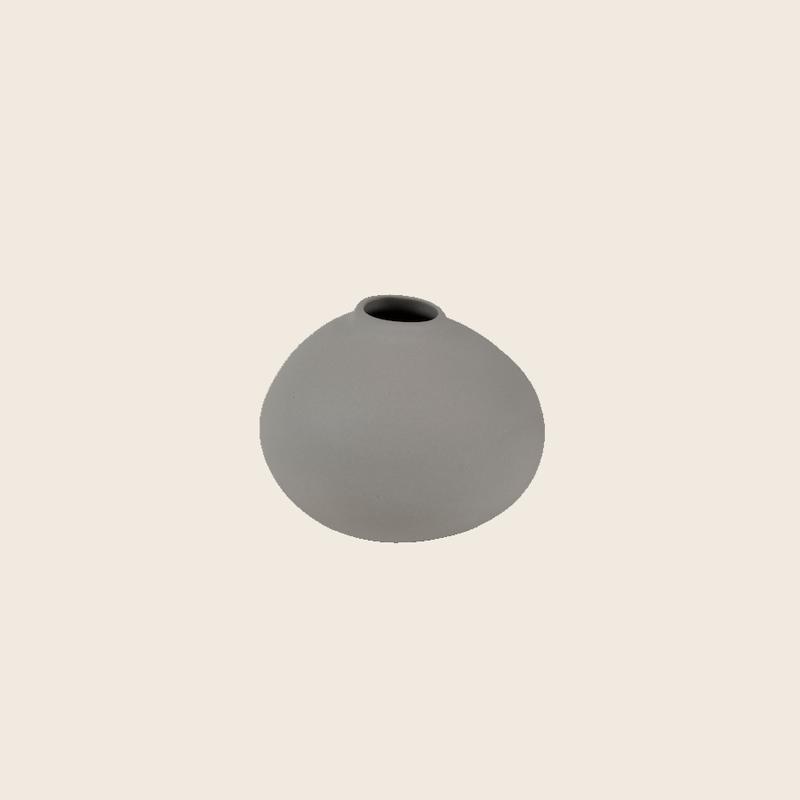 Matte Light Grey Vase Ø9