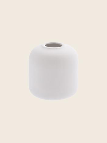 Matte White Vase Ø10