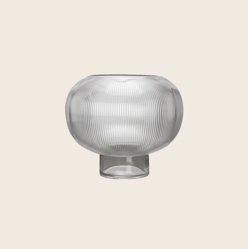 Ribbed Bowl Vase