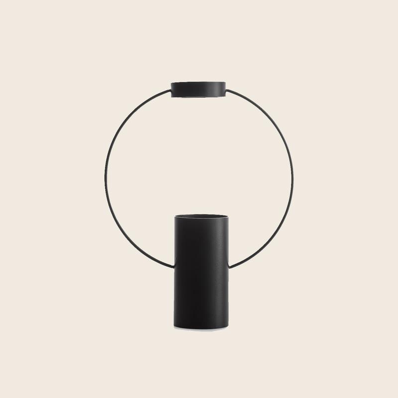 Ring Vase Black Big