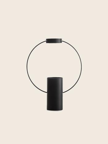 Ring Vase Black Small