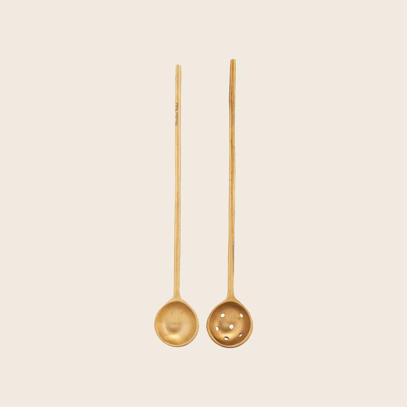 Nicolas Vahé Set of 2 Brass Spoons