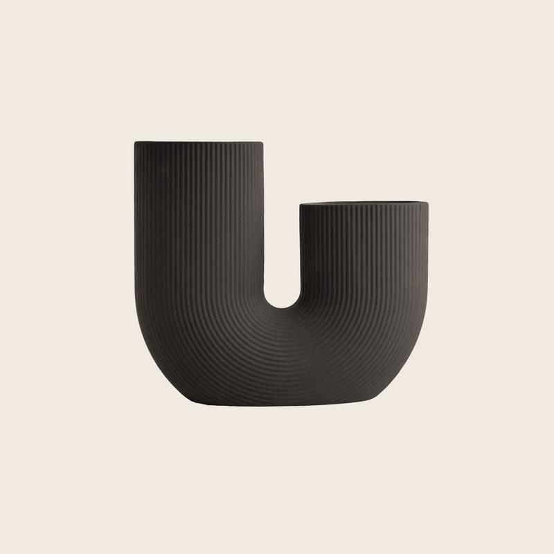U-Vase Dark Grey