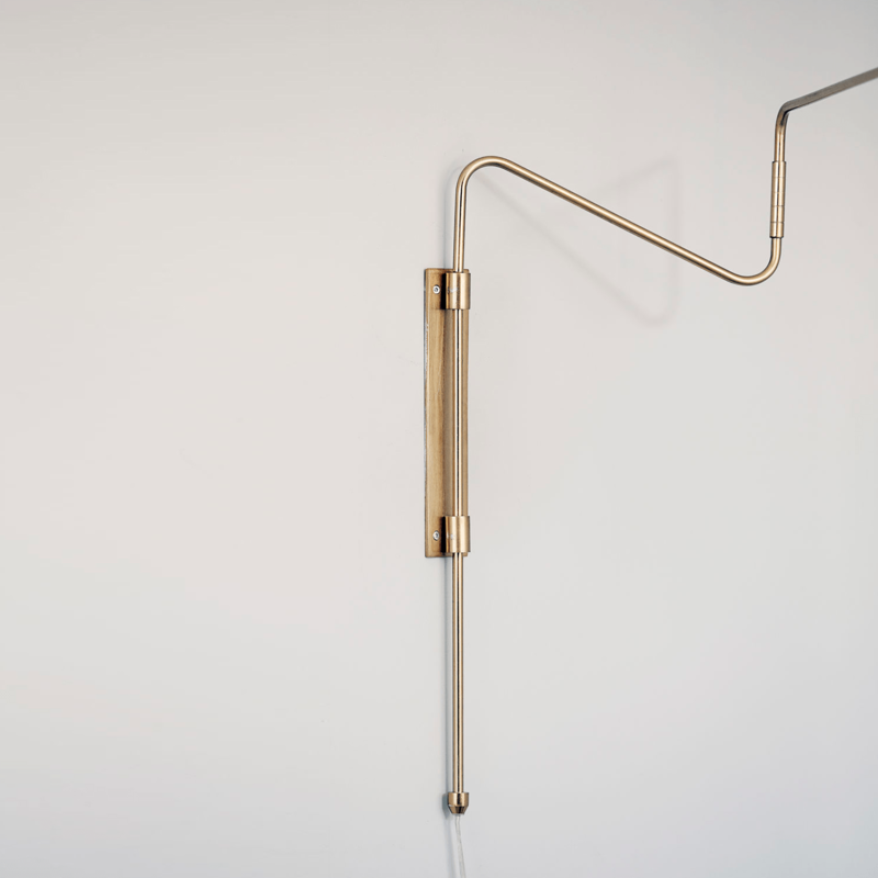House Doctor Wall Lamp Swing Brass