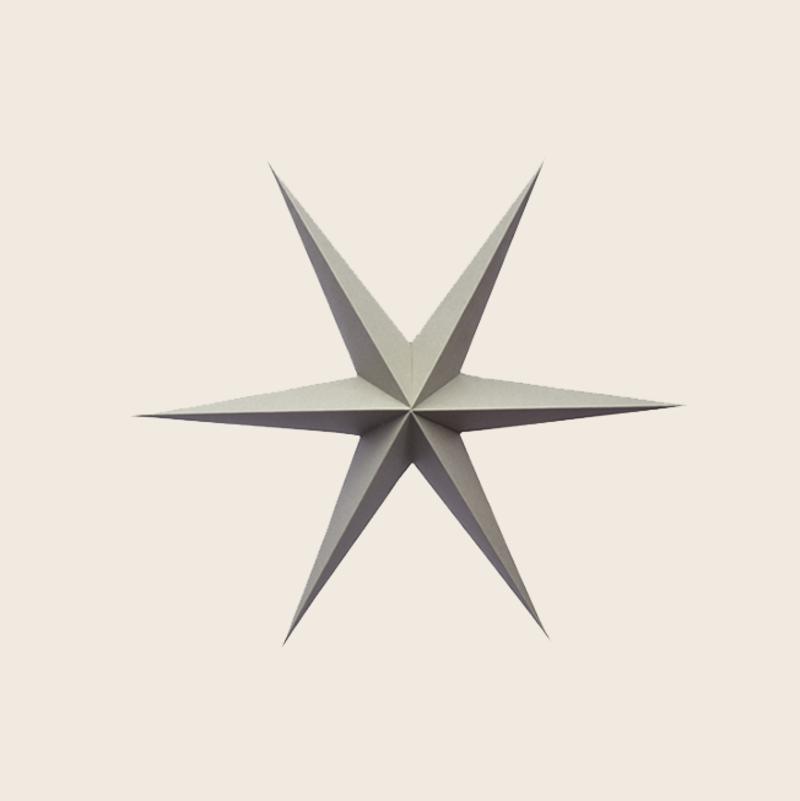 Warm Gray Paper Stars