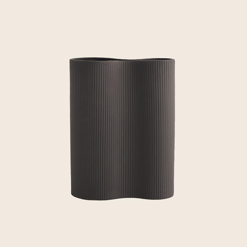Wavy Vase Dark Grey
