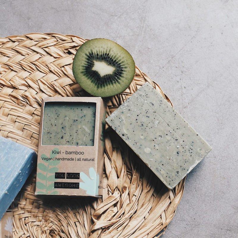 Wellmark Vegan Kiwi Bamboo Soap Bar