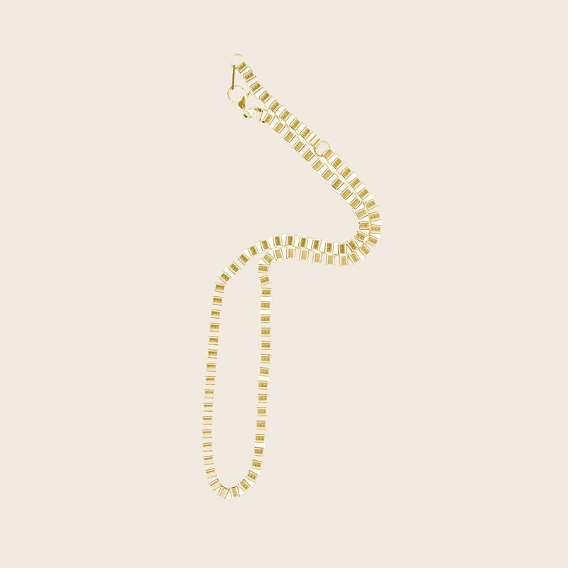 Bandhu Box Chain Necklace Gold