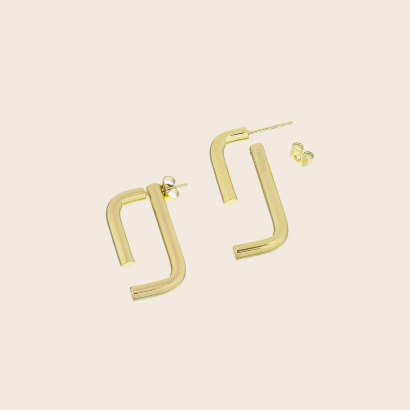 Bandhu Linked Earrings Gold