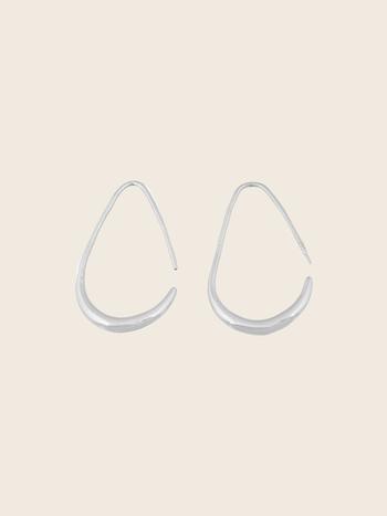 Bandhu Teardrop Earrings Silver