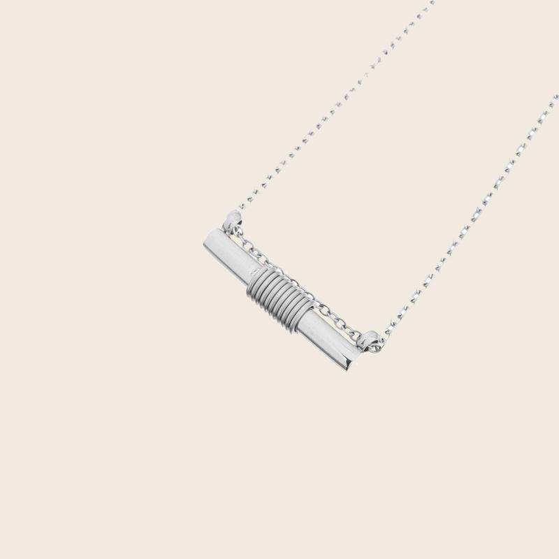 Bandhu Spiral Necklace Silver