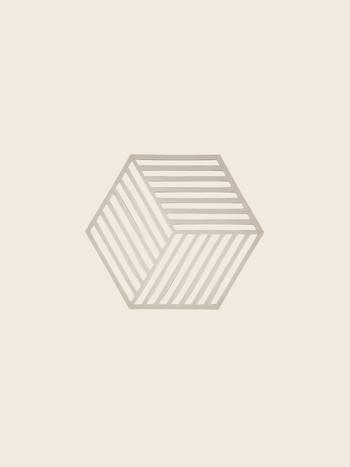 Zone Denmark Coaster Hexagon Warm Grey
