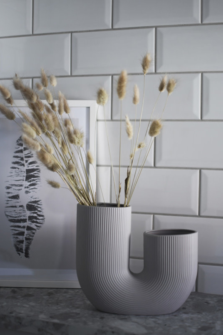 U-Vase Light Grey