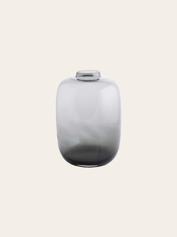 Dark Glass Vase 15 cm
