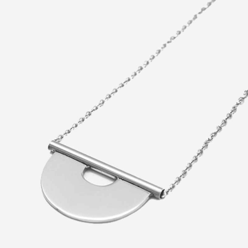Bandhu Round Tube Necklace Silver