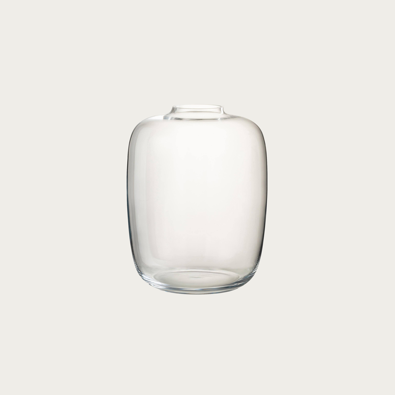 Clear Glass Vase 15 cm