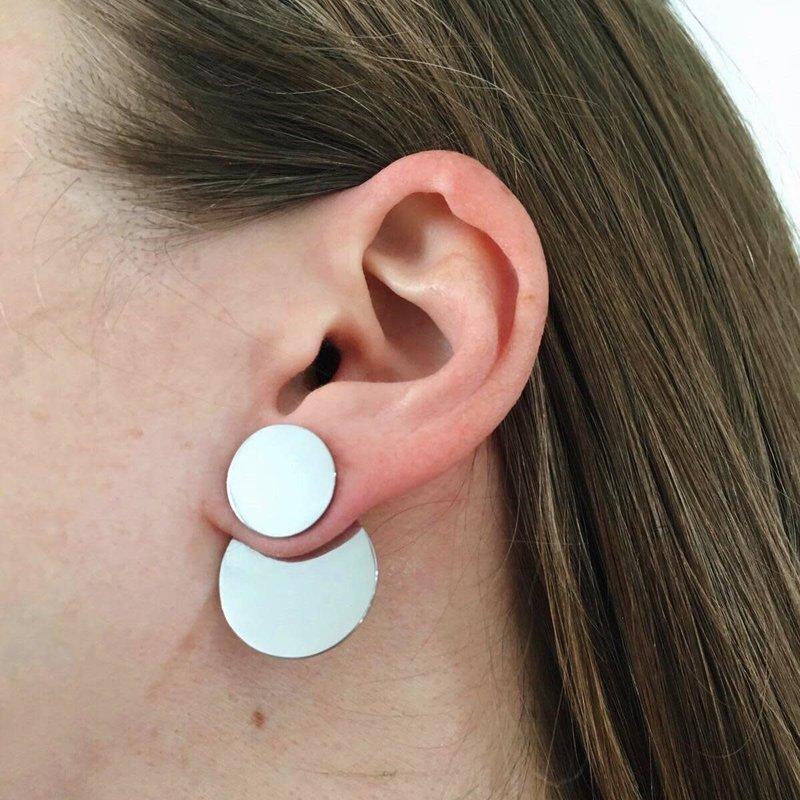 Bandhu Dual Earrings Silver