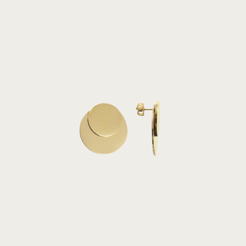 Bandhu Dual Earrings Gold