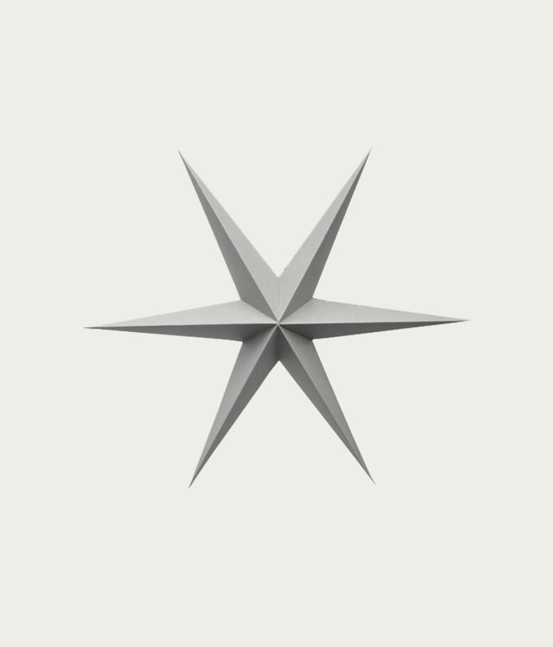 Light Gray Paper Stars