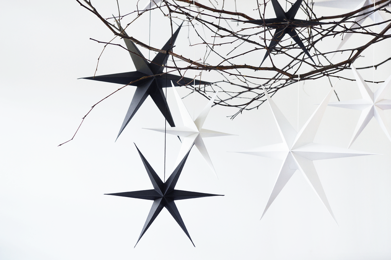 Black Paper Stars