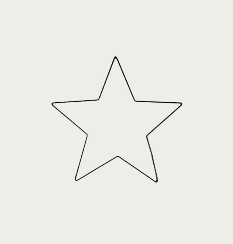Metal Star Ø40cm