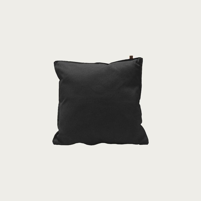Canvas Black Pillow 45x45