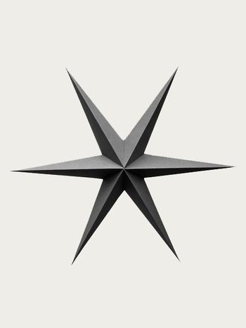 Dark Gray Paper Stars