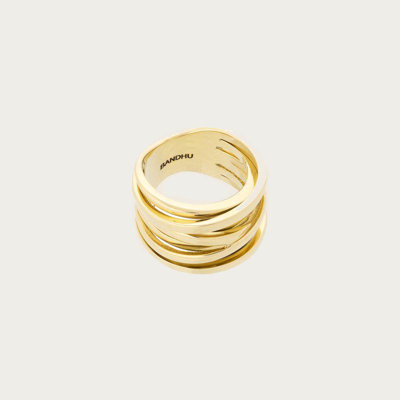 Bandhu Coil Ring Gold
