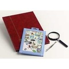 Davo Davo, Stamp package incl. stock book, tweezers and loupe, Flowers