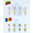 Davo Davo Kosmos, Supplement Euro coin album Lithuania & Andorra year 2015