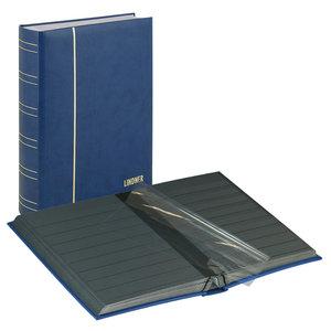 Lindner Lindner Elegant Nubuck stock album, binder blue