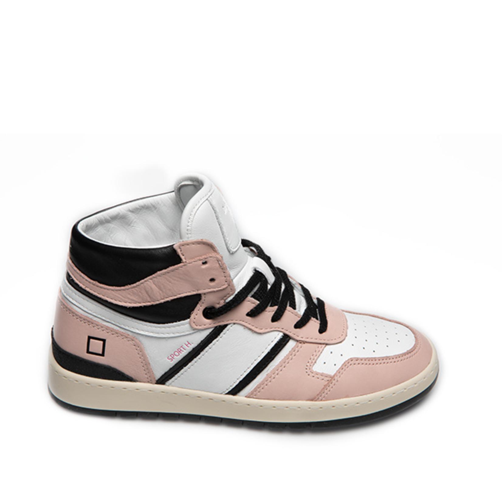 D.A.T.E. Sport high sneaker roze