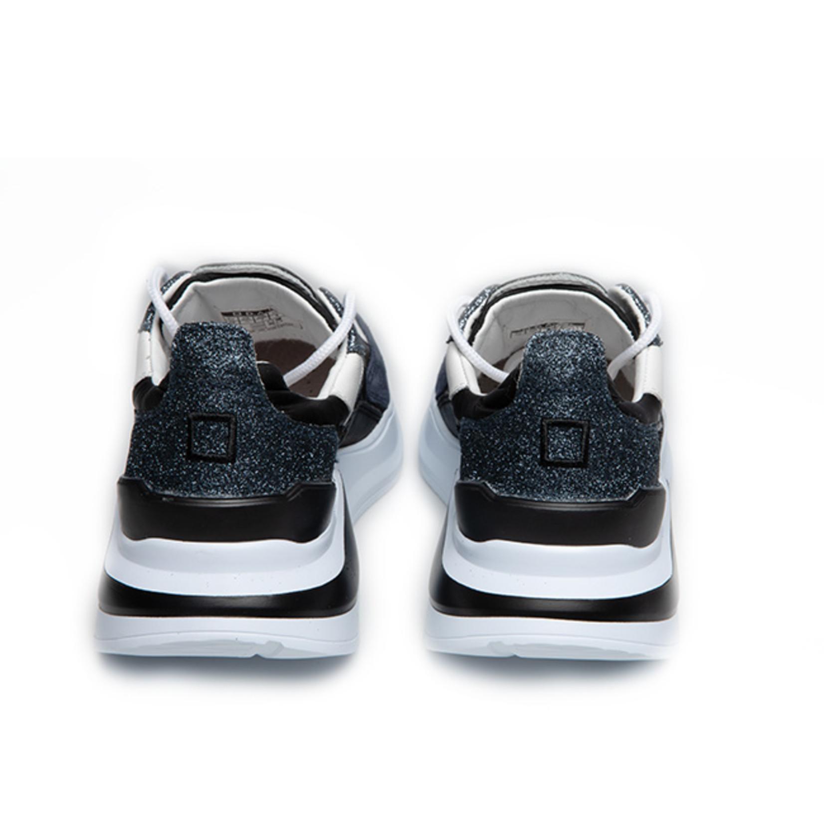D.A.T.E. Fuga sneaker zwart glitter
