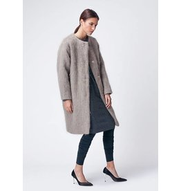 Dutchess Mohair coat  - taupe