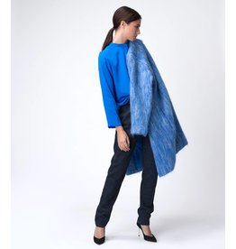 Dutchess Mohair coat  - blue melange