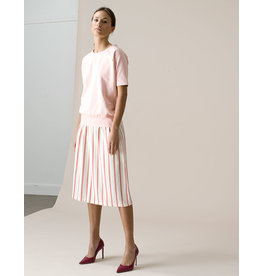 Dutchess Lucky skirt - red-white stripe