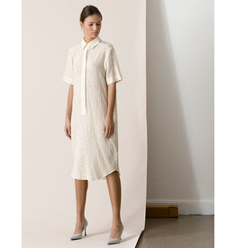 Dutchess Shirt dress - off white lurex