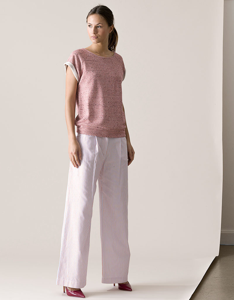 Dutchess Ray pants - red-white-blue stripe