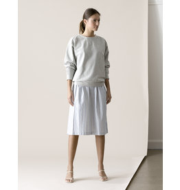Dutchess Lucky skirt - blue-white stripe