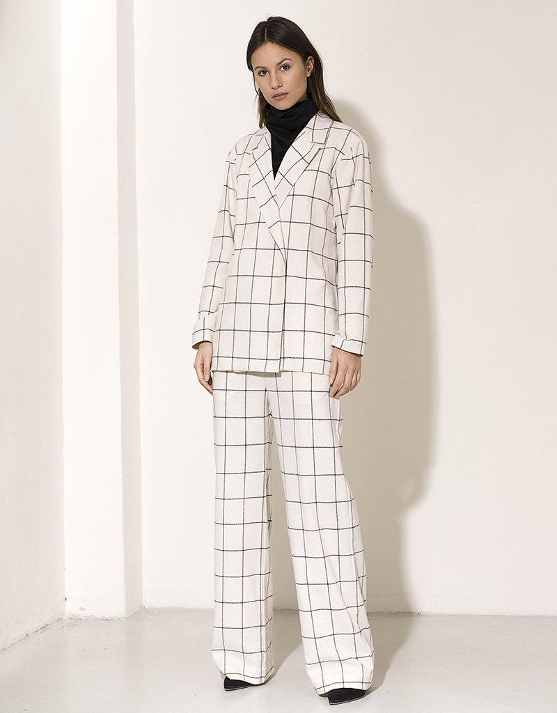 Dutchess Kitty coat - white check