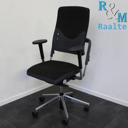 Grahl Xenium Bureaustoel - Zwart/Grijs/Chroom -  (Gebruikte Stof)