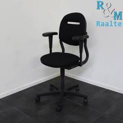 Ahrend 220 Bureaustoel - Instelbare armpads - Zwart/Zwart -  (Nieuwe stof)
