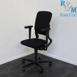 Ahrend 230 bureaustoel - Hoge rug - Zwart/Zwart - (Nieuwe stof)