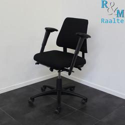 BMA Axia Bureaustoel - Lage Rug -  Zwart/Zwart (Nieuwe Stof)